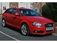 Audi A3 RED 2.0 TDI S Line Sports 5dr *SAT NAV* * BI-XENONS* *EXCELLENT CONDITION INSIDE OUT*