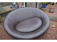 2 seater leather sofa £40
