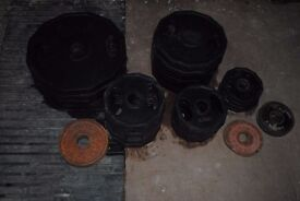 Used Rubber Coated Olympic Weight Plates £1.50/kg - Gym Weights