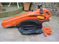 As new 2700 wat. Flymo electric vacuum and blower