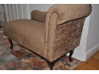 Classic Brown Chaise Longue lovely and soft