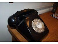 Vintage, retro black phone