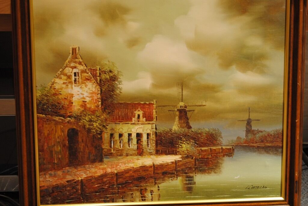 VINTAGE OIL PAINTING ON CANVAS \