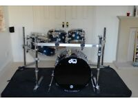 DW Collectors series + Pearl Icon Rack + Protection Racket cases