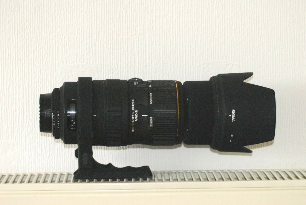 Sigma 50-500 APO F4.6-6.3EX lens for Nikon fit