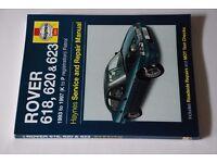 Haynes Manual for Rover 618,620 & 623 (1993-1997) Petrol
