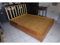Bed Frame solid pine box type