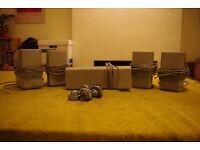 Sony Surround Sound Speakers x5 (Silver)