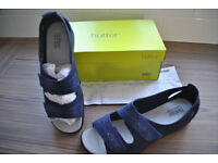 hotter ladies sandals FLORENCE-DK BLUE SIZE 8