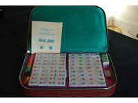 MAH-JONG SET WITH LEATHER CARRYING CASE