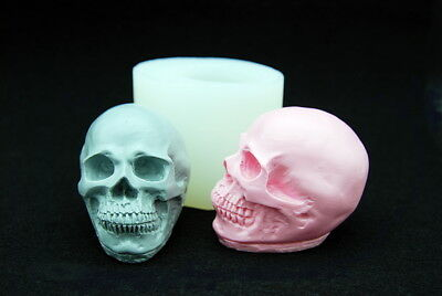 SKULL, Silicone Mold Chocolate Polymer Clay Jewelry Soap Wax