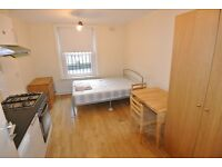 CL126-1 First floor studio above shop on Cricklewood Broadway. Rent inc gas, water and elec bills