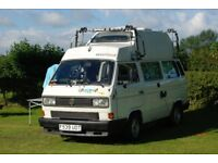 VW T25 / T3 Vanagon Volkswagen Camper 1.6TD Westfalia California High Top with classic Awning