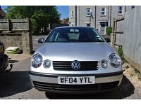 2004 VW Polo 1.2E. Silver, alloy wheels, silver dash and vent trims, Sony Bluetooth stereo