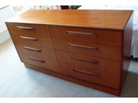RETRO TEAK CHEST OF DRAWERS (8-DRAWERS) FROM G-PLAN