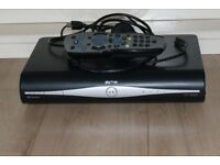 Sky plus hd box with remote control and accessories