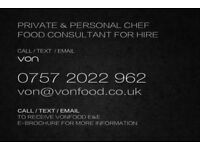 PRIVATE CHEF & PERSONAL CHEF FOR HIRE | FOOD CONSULTANT | FAMILY CHEF | DINNER PARTIES & EVENTS