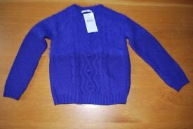 Age 8-9 M&S purple jumper - new with tags