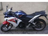 Honda CBR 250 2011 - Low miles, fully serviced, heated grips, 6 months MOT, recently new rear tire