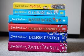 6 David Walliams Books in Excellent Condition
