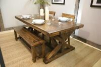 Reclaimed Wood Dining Room Furniture: Table $1995 & more! LIKEN