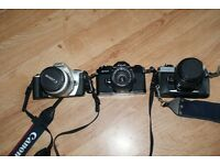 3 x 35mm film cameras for sale