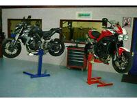EAZYRIZER Big Blue Motorcycle & Trike Workshop lift - Heavy duty - table bench