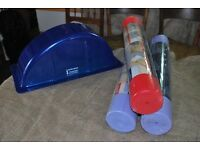 3 fitness mats and Ruth White yoga arch
