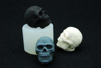 Mini Skull, Silicone Mold Candle Chocolate Polymer Clay Jewelry Soap Wax Resin