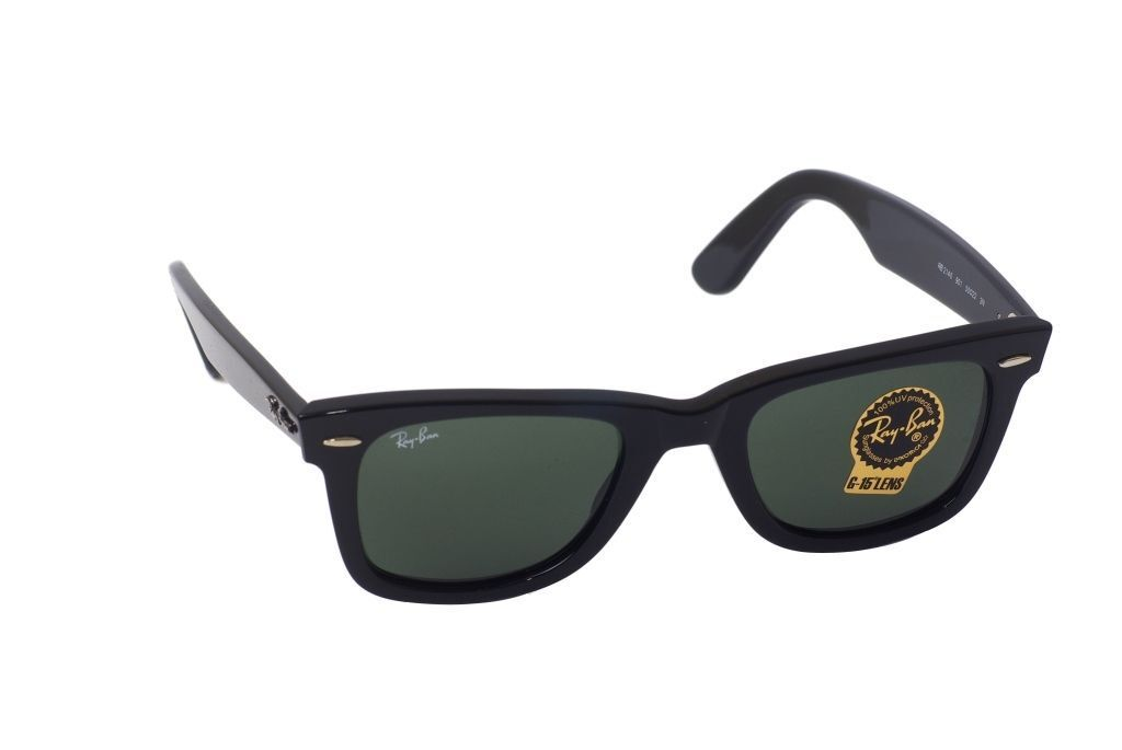 ea0fed9f6dc02 Details about New Authentic Ray-Ban Wayfarer Sunglasses RB 2140 901 Black  54MM G15 Lens