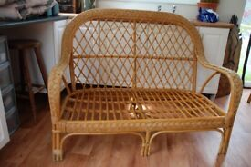 Wicker 2 seater setee Garden or home