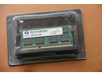 1x4gb DDR3 notebook memory In3v4gnzb2 1333MHz CL9 DIMM