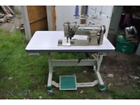 SINGER 1/4 Twin Needle SPLIT BAR KNOCK OUT NEEDLE FEED Industrial Sewing Machine
