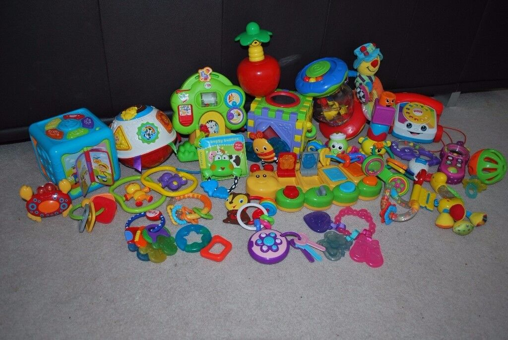 Big Box of Toys from newborn - some NEW and most of them never been used