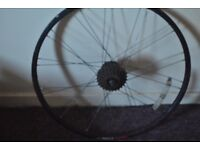 """Front and rear bicycle wheels 6-7 speeds 26"""""""