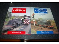 Irish Railways in Colour - two fascinating Tom Ferris books covering 1947 to 1970.