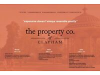 LET FROM £700 INC VAT WITH THE PROPERTY CO OF CLAPHAM