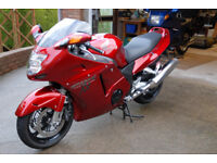 Honda Blackbird. CBR 1100 XX Super Blackbird, Candy Glory Red 13,213 miles