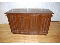 Vintage 1968 Stereogram wooden cabinet with aux inputs garrard record player ipod
