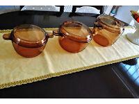 Set of 3 Casserolle pans