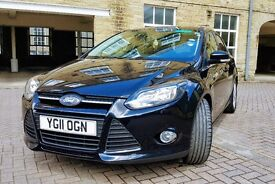 Ford Focus 1.6 TDCi Zetec 5dr in Black. Full Service History. EXCELLENT CONDITION.