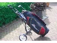 Complete set of golf clubs,bag,trolley and extras