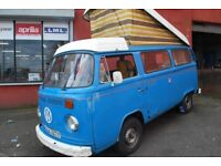 1976 VW Campervan. Dry stored for 30 years, reconditioned engine, LHD