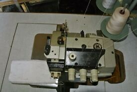 Mauser Spezial 4-thread TOP & BOTTOM FEED Overlock Industrial Sewing Machine