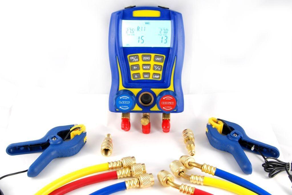 Digitale Prüfarmatur WK-6889 Monteurhilfe Kältemittel Klimaanlage test armature