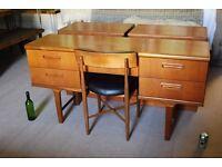 1960s Danish modern teak era G Plan Fresco STYLE desk (dressing table) vintage Brighton gplanera
