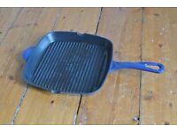 Blue Cast Iron Griddle Pan