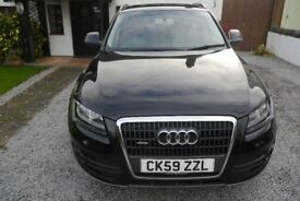 AUDI Q5 2.0 TDi SE 2009 IN BLACK WITH LONG MOT, LOW MILEAGE AND IN GREAT CONDITION FOR THE YEAR