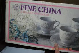 CAC China cups and saucers 6 of each boxed