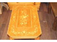 French Polished Antique Coffee Table
